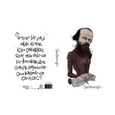 Deffter   Dostoyevski Sert Kapak Not Defteri Çizgisiz  Renkli
